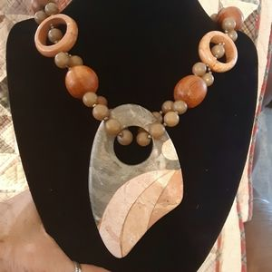 Jewelry - Rare Tessellated Stone necklace